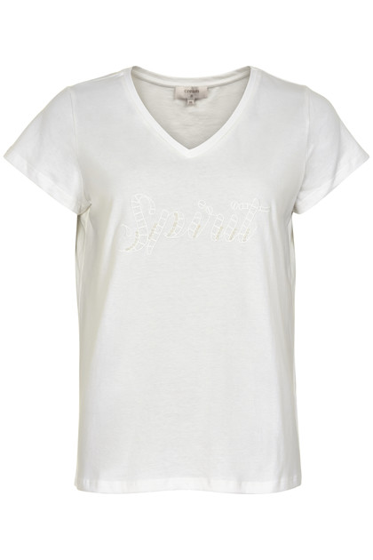 CREAM AMALIA JERSEY T-SHIRT 10650299