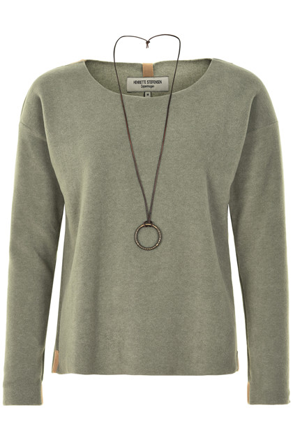 HENRIETTE STEFFENSEN Copenhagen 1291G SWEATER DUSTY GREEN