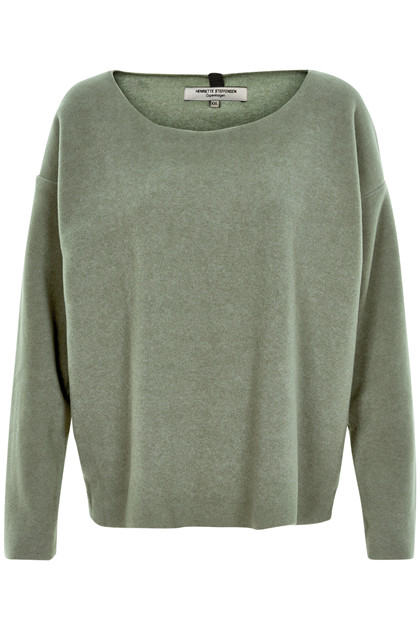 HENRIETTE STEFFENSEN Copenhagen 1243 SWEATER DUSTY GREEN