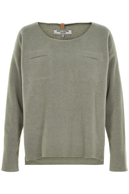 HENRIETTE STEFFENSEN Copenhagen 1295G SWEATER DUSTY GREEN