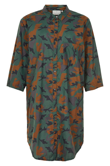 KAFFE CAMO SHIRT DRESS 10551208