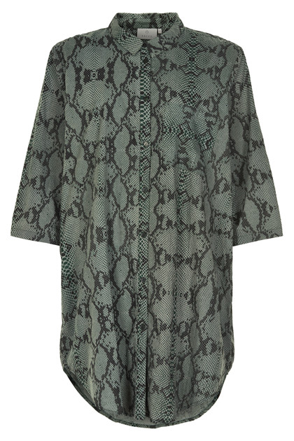 KAFFE KAMARIANNE SNAKE SHIRT DRESS 10551207