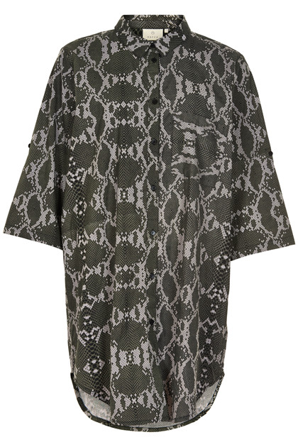 KAFFE KAMARIANNE SNAKE SHIRT DRESS 10551207 B