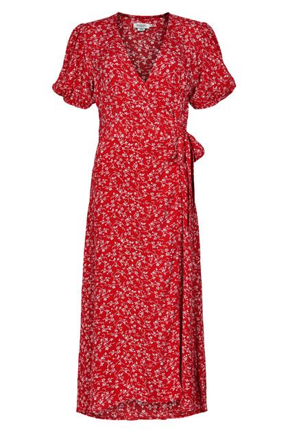 SOAKED IN LUXURY SXBOBBY WRAP DRESS 30404631
