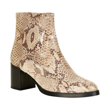CREAM DELUXE SNAKE BOOTS 10400360
