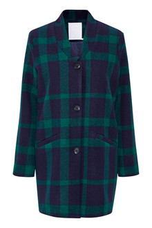 KAFFE BESS CHECKED COAT 10502625