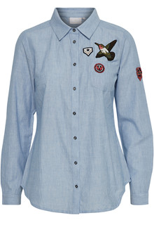 KAFFE HOLLY BADGE SHIRT 10550420 G