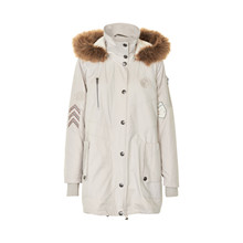 CREAM LILY PARKA COAT 10600685