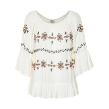 CREAM LOTUS BLOUSE 10600857