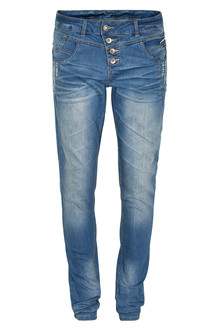CREAM CARRIE DENIM JEANS 10601542
