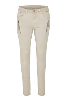 CREAM BIBIANA TWILL PANTS 10601765 N