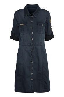 CREAM UNIFORM DENIM DRESS 10602202