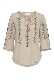 CREAM LIVA BLOUSE 10602286