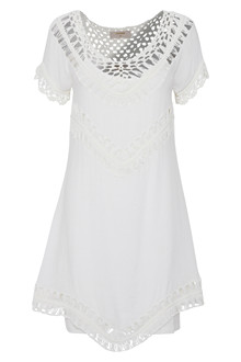CREAM RAGNHILD SHORT DRESS 10602356