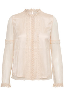 CREAM ZELDA MESH BLOUSE 10602980