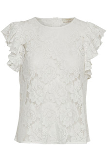 CREAM ALDA LACE BLUSE 10603020