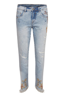 CREAM SIF FLOWER JEANS  10603046