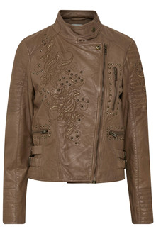 CREAM KIKI LEATHER JACKET 10603075