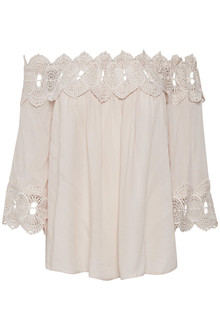 CREAM BEA LACE BLOUSE 10603171 R