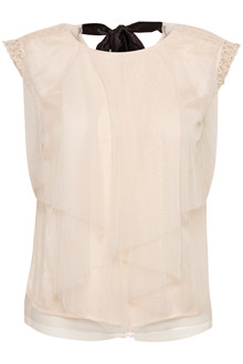 CREAM ZELDA MESH TOP 10603224