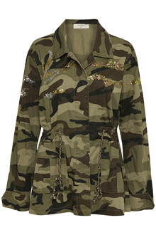 CREAM ELVIRA CAMO JACKET 10603350