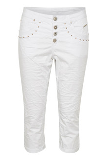 CREAM TILDE CAPRI PANTS - BAILEY FIT 10603379 O
