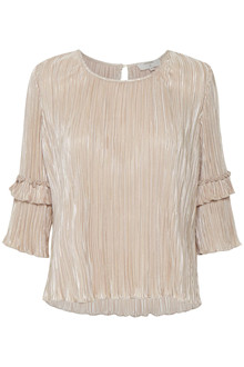 CREAM PLEAT BLOUSE 10603511