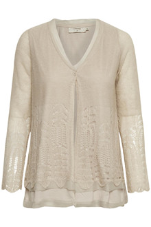 CREAM DEANA KNIT CARDIGAN 10604006