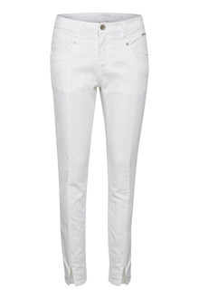 CREAM AMALIE TWILL PANTS - KATY FIT 10604378