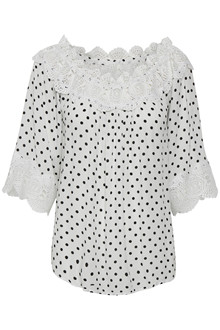 CREAM BEA DOT BLUSE 10604523