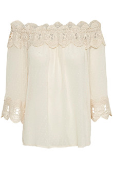 CREAM BEA DOBBY BLOUSE 10650205