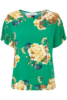 Denim Hunter SØRINE GREEN FLOWER BLUSE 10701752