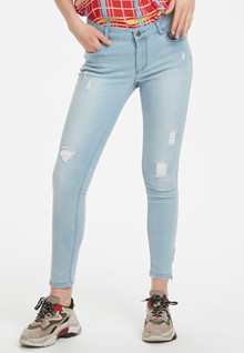 Denim Hunter CELINA ZIP TORN JEANS 10701894 L