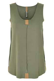 HENRIETTE STEFFENSEN Copenhagen 6008G TOP DUSTY GREEN