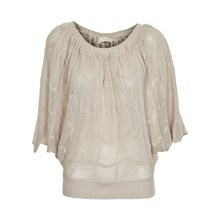 CREAM BATIE KNIT BLOUSE 10601062