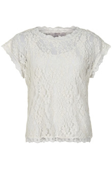 CREAM VIVI LACE BLOUSE 10604513