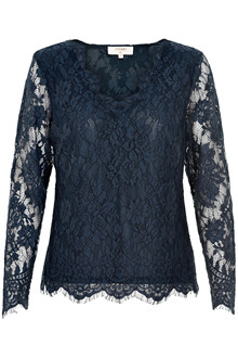CREAM ADRIANA LACE BLOUSE 10603593