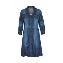 CREAM CARRIE DENIM DRESS 10601249