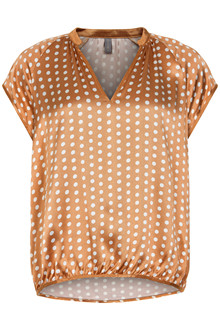 CULTURE ALLY DOT CAP SLEEVE BLUSE 50105285 A