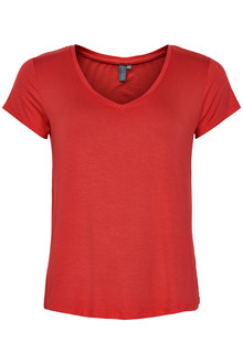 CULTURE POPPY V-NECK T-SHIRT 50105673 RR