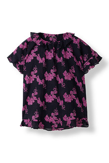 STELLA NOVA FLOWER COTTON BLUSE FC-4482