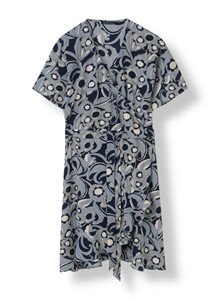STELLA NOVA GRAPHIC FLOWERS WRAP DRESS GF-4532