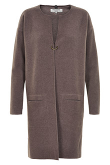 HENRIETTE STEFFENSEN Copenhagen 7107 LONG CARDIGAN BROWN