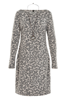 HENRIETTE STEFFENSEN Copenhagen 3219 DRESS W. NECKLACE LEOPARD