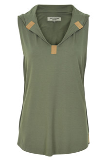 HENRIETTE STEFFENSEN Copenhagen 6002G TOP DUSTY GREEN