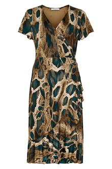 IN FRONT SONJA SNAKE DRESS 13062 P