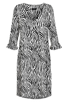 SOAKED IN LUXURY OLINE ZEBRA DRESS 30404067
