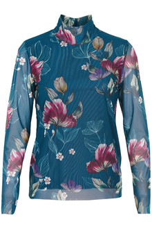 SOAKED IN LUXURY CLOVER LS TURTLENECK BLOUSE
