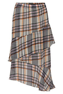 SOAKED IN LUXURY CELEST CHECKED NEDERDEL 30404106