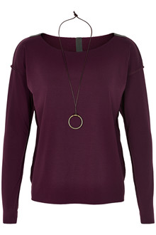 HENRIETTE STEFFENSEN Copenhagen 6014 BLOUSE W. NECKLACE BORDO